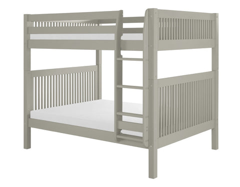 Camaflexi Full over Full Bunk Bed - Mission Headboard - Grey Finish - C1614_GY-Bunk Beds-HipBeds.com
