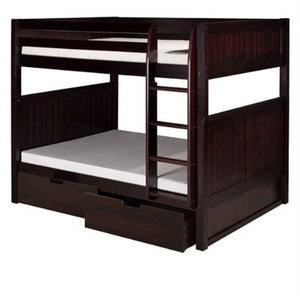 Camaflexi Full over Full Bunk Bed with Drawers - Panel Headboard - Natural Finish - C1621_DR-Bunk Beds-HipBeds.com
