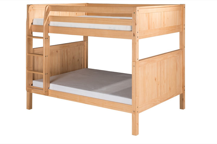Camaflexi Full over Full Bunk Bed - Panel Headboard - Natural Finish  - C1621_NT