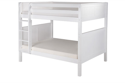 Camaflexi Full over Full Bunk Bed - Panel Headboard - White Finish - C1623_WH-Bunk Beds-HipBeds.com