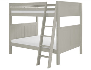 Camaflexi Full over Full Bunk Bed - Panel Headboard - Angle Ladder - Grey Finish - C1624A_GY-Bunk Beds-HipBeds.com