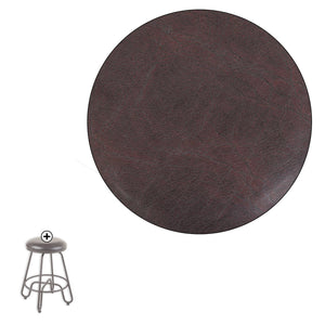 Leggett & Platt Denver Metal Barstool w/ Backless Brown Upholstered Swivel-Seat & Umber Metal Frame Finish, 30-Inch-Table & Bar Stools-HipBeds.com