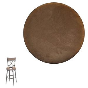 Leggett & Platt Montgomery Metal Barstool w/ Cocoa Microfiber Swivel-Seat & Blackened Bronze Frame Finish, 30-Inch-Table & Bar Stools-HipBeds.com