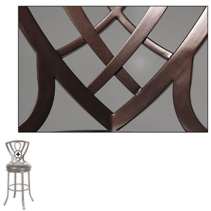 Leggett & Platt Lincoln Metal Barstool w/ Chocolate Upholstered Swivel-Seat & Brown Crystal Frame Finish, 2-Pack, 30-Inch-Table & Bar Stools-HipBeds.com