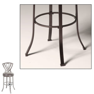 Leggett & Platt Lincoln Metal Counter Stool w/ Chocolate Upholstered Swivel-Seat & Brown Crystal Frame Finish, 26-Inch-Table & Bar Stools-HipBeds.com