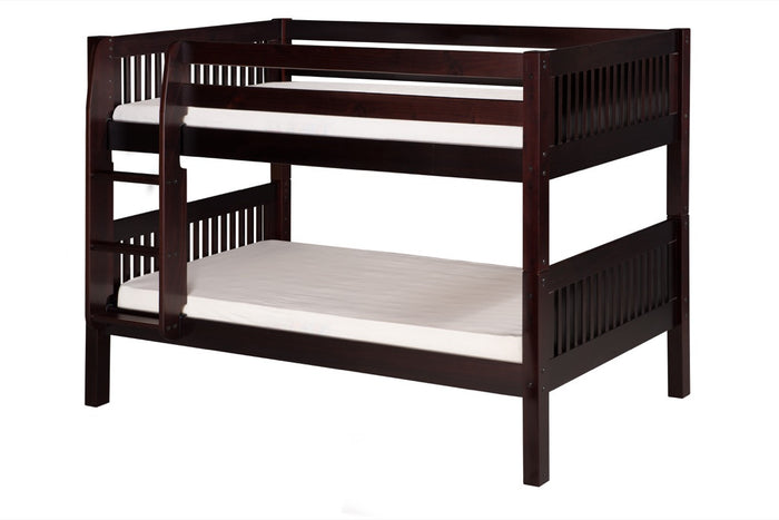 Camaflexi Low Bunk Bed - Mission Headboard - Cappuccino Finish - C2012_CP