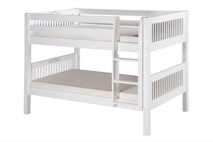 Camaflexi Low Bunk Bed - Mission Headboard - White Finish - C2013_WH-Bunk Beds-HipBeds.com