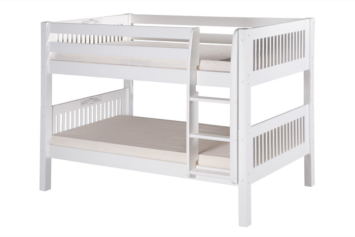 Camaflexi Low Bunk Bed - Mission Headboard - White Finish - C2013_WH