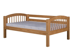 Camaflexi Day Bed - Arch Spindle Headboard - Natural Finish - C201_NT-Day Beds-HipBeds.com