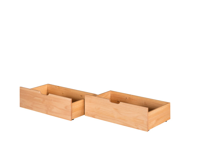 Camaflexi Under Bed Drawers - Twin or Full - Natural Finish - C3031_NT
