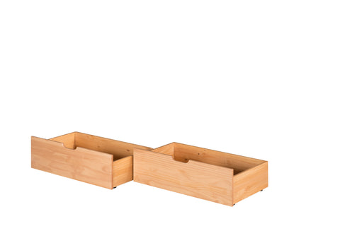 Camaflexi Under Bed Drawers - Twin or Full - Natural Finish - C3031_NT-Accessories-HipBeds.com