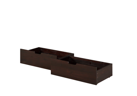 Camaflexi Under Bed Drawers - Twin or Full - Cappuccino Finish - C3032_CP-Accessories-HipBeds.com