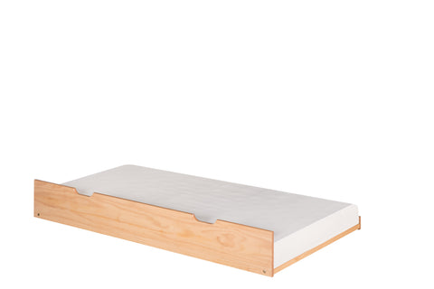 Camaflexi Under Bed Trundle - Twin Size - Natural Finish - C3131_NT-Accessories-HipBeds.com