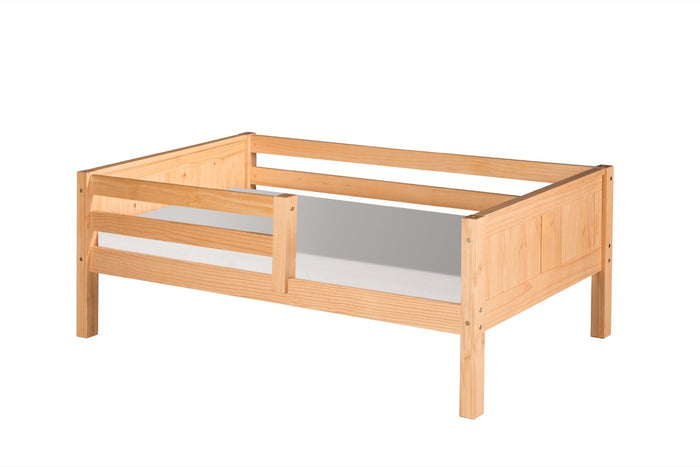Camaflexi Day Bed with Front Guard Rail - Panel Headboard - Natural Finish - C321_NT