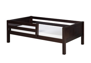Camaflexi Day Bed with Front Guard Rail - Panel Headboard - Cappuccino Finish - C322_CP-Platform Beds-HipBeds.com