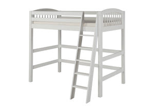 Camaflexi High Loft Bed - Arch Spindle Headboard - White Finish - C603_WH-Loft Beds-HipBeds.com