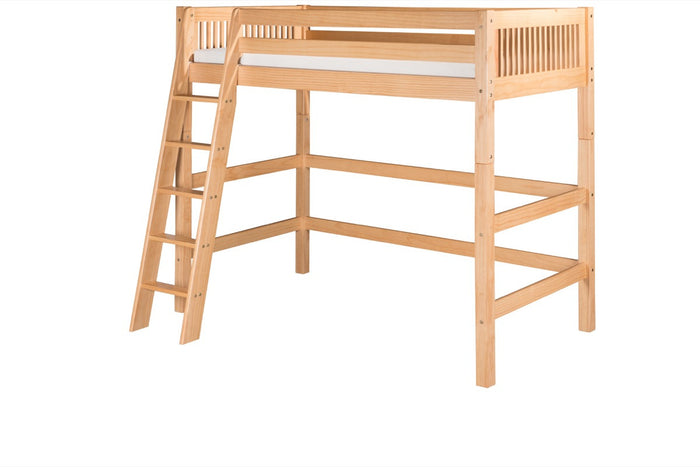 Camaflexi High Loft Bed - Mission Headboard - Natural Finish - C611_NT