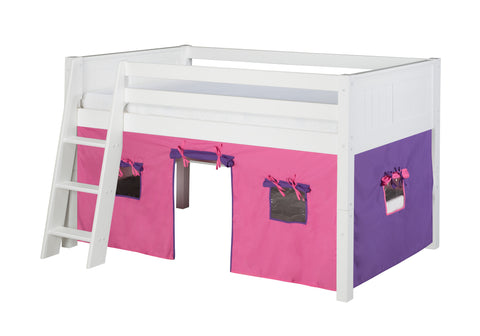 Camaflexi Fabric Tent Kit for Low Loft Bed - Pink - C6417_PK-Accessories-HipBeds.com