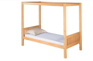 Camaflexi Canopy Bed - Mission Headboard - Natural Finish - C811_NT-Canopy Beds-HipBeds.com