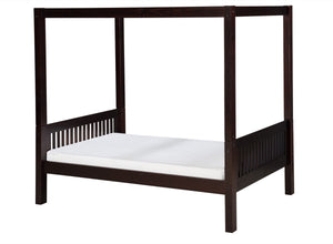 Camaflexi Canopy Bed - Mission Headboard - Cappuccino Finish - C812_CP-Canopy Beds-HipBeds.com
