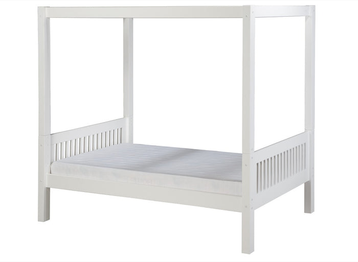 Camaflexi Canopy Bed - Mission Headboard - White Finish - C813_WH