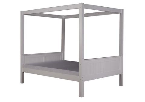 Camaflexi Full Canopy Bed - Panel Headboard - White Finish - C823F_WH-Canopy Beds-HipBeds.com