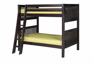Camaflexi Bunk Bed - Mission Headboard - Angle Ladder - Cappuccino Finish - C912A_CP-Bunk Beds-HipBeds.com