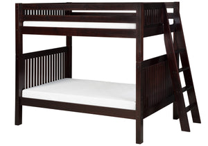 Camaflexi Bunk Bed - Mission Headboard - Lateral Angle Ladder - Cappuccino Finish - C912L_CP-Bunk Beds-HipBeds.com