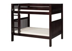 Camaflexi Bunk Bed - Mission Headboard - Cappuccino Finish - C912_CP-Bunk Beds-HipBeds.com