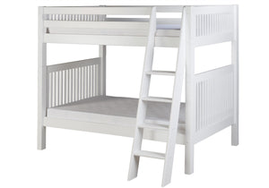 Camaflexi Bunk Bed - Mission Headboard - Angle Ladder - White Finish - C913A_WH-Bunk Beds-HipBeds.com