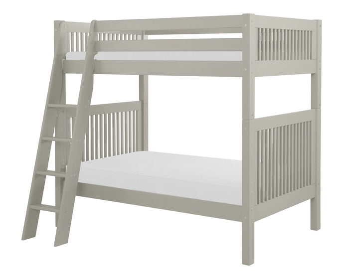 Camaflexi Bunk Bed - Mission Headboard - Angle Ladder - Grey Finish  - C914A_GY