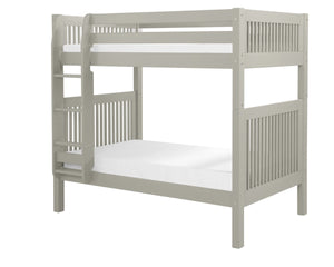 Camaflexi Bunk Bed - Mission Headboard - Grey Finish - C914_GY-Bunk Beds-HipBeds.com