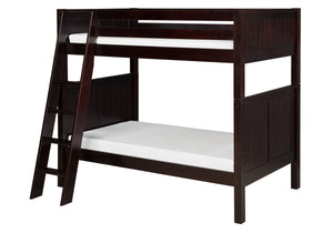 Camaflexi Bunk Bed - Panel Headboard - Angle Ladder - Cappuccino Finish - C922A_CP-Bunk Beds-HipBeds.com