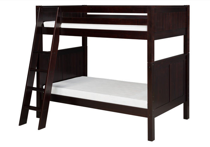 Camaflexi Bunk Bed - Panel Headboard - Angle Ladder - Cappuccino Finish - C922A_CP