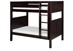Camaflexi Bunk Bed - Panel Headboard - Cappuccino Finish - C922_CP-Bunk Beds-HipBeds.com