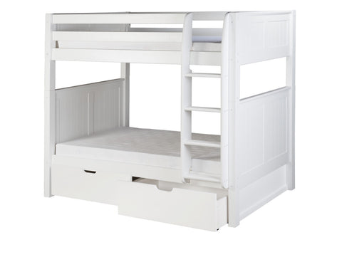 Camaflexi Bunk Bed with Drawers - Panel Headboard - White Finish - C923_DR-Bunk Beds-HipBeds.com