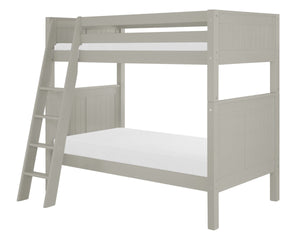 Camaflexi Bunk Bed - Panel Headboard - Angle Ladder - Grey Finish - C924A_GY-Bunk Beds-HipBeds.com