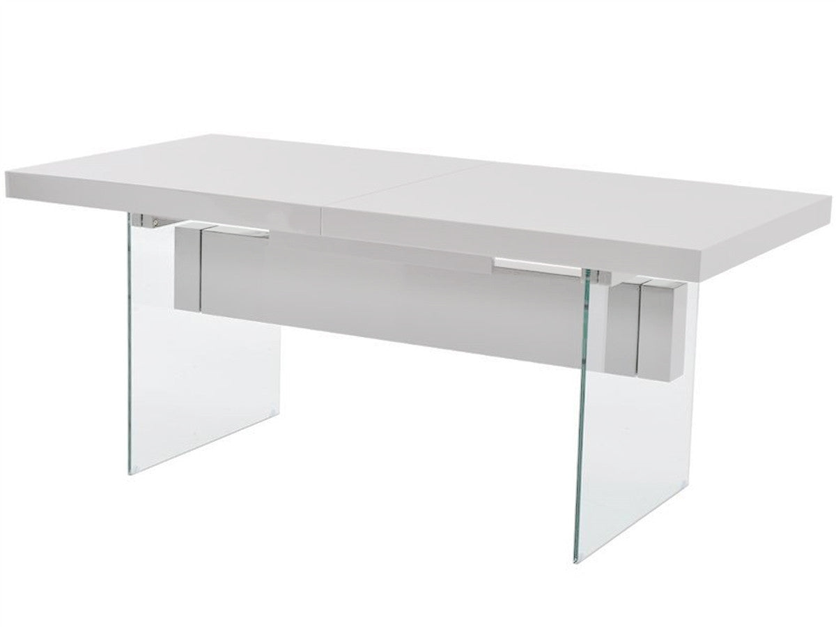 Casabianca IL VETRO High Gloss White Lacquer Dining Table Dining Tables  HipBeds.com