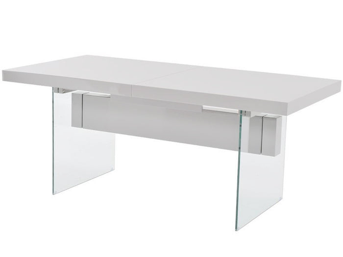 Casabianca IL VETRO High Gloss White Lacquer Dining Table