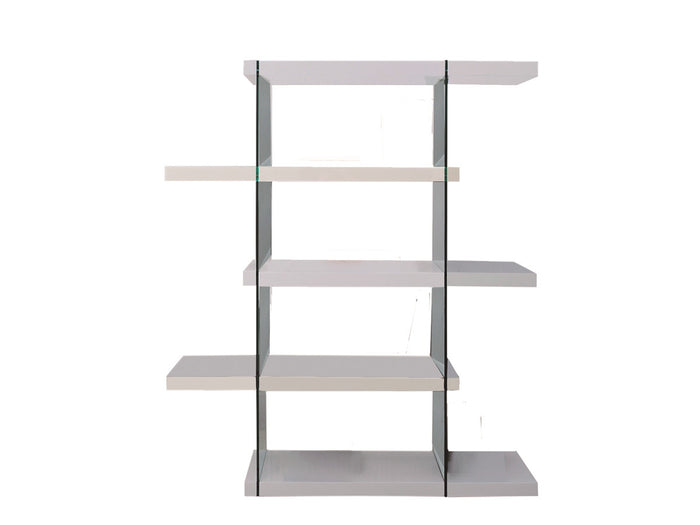 Casabianca IL VETRO High Gloss White Lacquer Bookcase - CB-111-WW-BKS