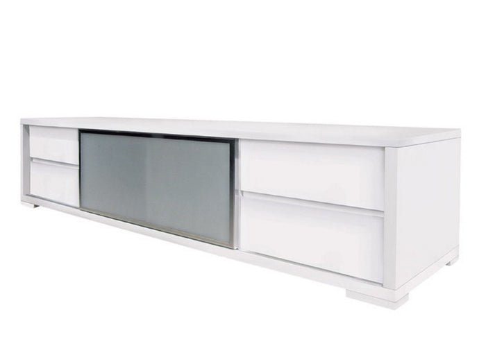 Casabianca PINETO High Gloss White Lacquer Entertainment Center - CB-302TV