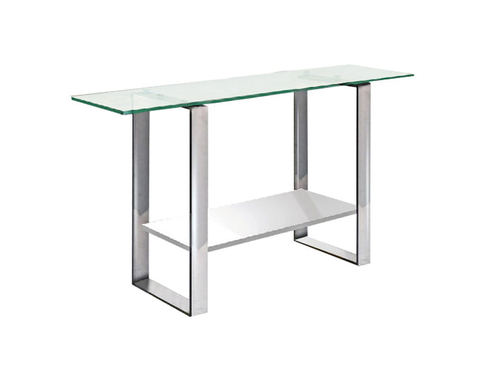 Casabianca CLARITY CHigh Gloss White Lacquer Console Table - CB-3441-W