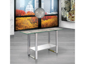 Casabianca CLARITY CHigh Gloss White Lacquer Console Table - CB-3441-W-Console Tables-HipBeds.com