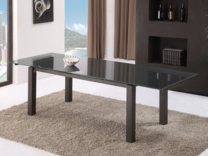 Casabianca NOVECENTO Dark Gray Base / Dark Gray Glass Dining Table - CB-3462DT-Dining Tables-HipBeds.com