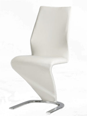 Casabianca BOULEVARD White Eco-Leather Dining Chair - CB-6606-W-Dining Chairs-HipBeds.com