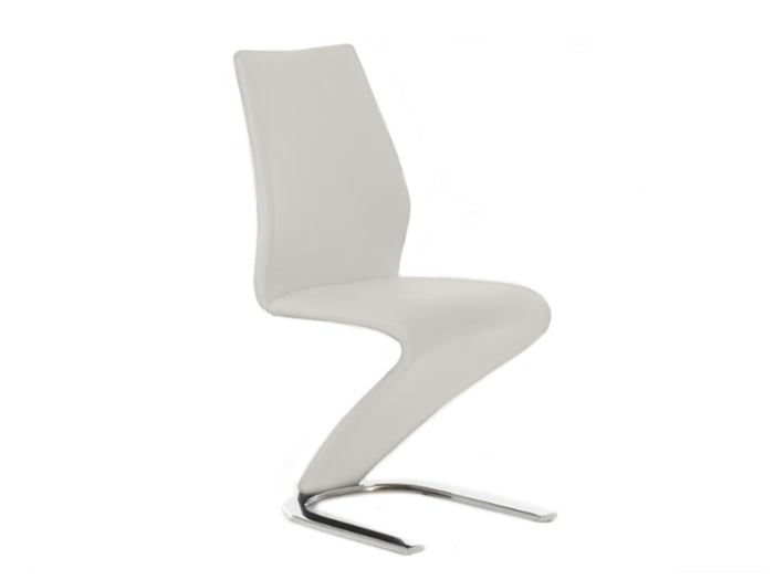 Casabianca BOULEVARD White Eco-Leather Dining Chair - CB-6606-W