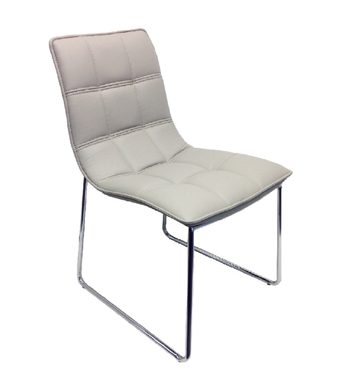 Casabianca LEANDRO Gray Eco-leather Dining Chair - CB-870