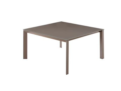 Casabianca NAPLES Taupe / Taupe Glass Dining Table - CB-8740-Dining Tables-HipBeds.com