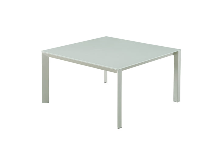 Casabianca NAPLES White / White Glass Dining Table - CB-8740White
