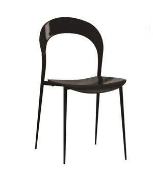 Casabianca RIDER High Gloss Black Lacquer Dining Chair - CB-899-BLACK-Dining Chairs-HipBeds.com